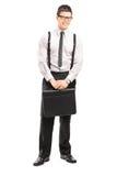 Retrato integral del hombre de negocios con una cartera Imagen de archivo libre de regalías