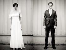 Retrato integral del novio del extremo de la novia Fotografía de archivo libre de regalías