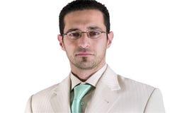 Retrato isolado do homem de negócios Fotografia de Stock Royalty Free