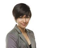 Retrato joven de la mujer adulta de la raza mixta joven Foto de archivo