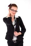 Retrato joven de la mujer de negocios Imágenes de archivo libres de regalías