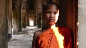 Retrato joven del monje budista metrajes