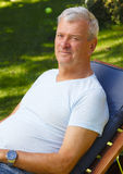 Retrato jubilado del hombre Imagen de archivo libre de regalías