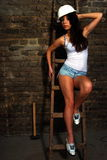 Retrato a la muchacha atractiva Fotografía de archivo