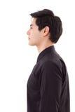 Retrato lateral del perfil del hombre asiático Foto de archivo libre de regalías