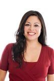 Retrato latino-americano bonito da mulher Imagem de Stock Royalty Free