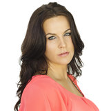 Retrato latino lindo da mulher Foto de Stock