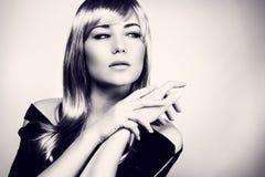 Retrato lindo da mulher Fotos de Stock Royalty Free