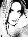 Retrato llamativo de la mujer joven Imagen de archivo