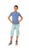 Retrato lleno de la altura del muchacho confiado Fotos de archivo