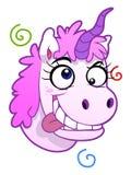 Retrato loco del unicornio stock de ilustración