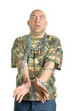 Retrato louco do homem Fotografia de Stock Royalty Free