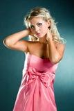 Retrato louro da mulher do close up fotografia de stock royalty free