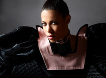 Retrato luxuoso da mulher de Fachiom. Fotos de Stock Royalty Free