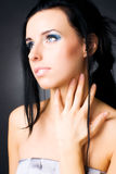 Retrato macio da mulher triguenha nova Foto de Stock Royalty Free