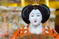 Retrato macro da boneca japonesa, Hina Ningyou foto de stock royalty free