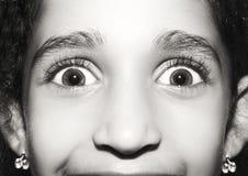 Retrato macro dos olhos das moças, monocromático Fotos de Stock