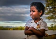 Retrato malgache del muchacho Imagen de archivo