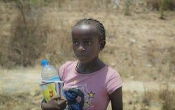 Retrato malgache negro de la muchacha Imagen de archivo