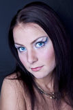 Retrato marina de la señora joven del arte de la cara Imagen de archivo libre de regalías