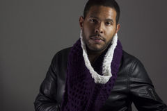 Retrato masculino americano africano Imagens de Stock