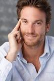 Retrato masculino confidente apuesto Imagen de archivo libre de regalías