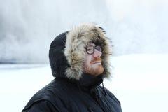 Retrato masculino do inverno fotos de stock royalty free