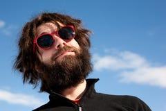 Retrato masculino engraçado fotografia de stock