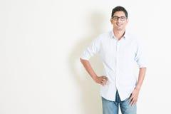 Retrato masculino indio del negocio casual Imagen de archivo libre de regalías