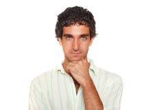Retrato masculino sério fotografia de stock royalty free