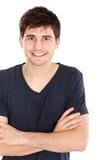 Retrato masculino sonriente joven Fotos de archivo