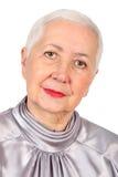 Retrato mayor de la mujer Fotografía de archivo