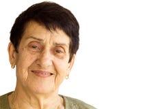 Retrato mayor de la mujer imagen de archivo libre de regalías