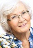 Retrato mayor de la mujer Foto de archivo libre de regalías