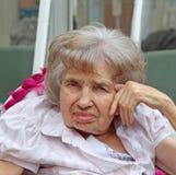 Retrato mayor del pensionista foto de archivo libre de regalías