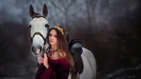 Retrato medieval da rainha Foto de Stock Royalty Free