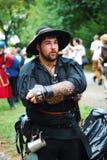 Retrato medieval do homem Fotos de Stock