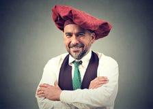 Retrato meio seguro do homem envelhecido fotografia de stock