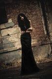 Retrato melancólico de la muchacha enferma del goth Imagenes de archivo