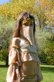 Retrato a menina no traje oriental fotos de stock royalty free