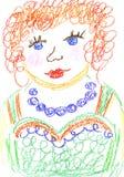 Retrato minha mamã ilustração stock