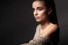 Retrato modelo bonito Fotografia de Stock Royalty Free
