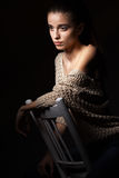 Retrato modelo bonito Imagem de Stock Royalty Free