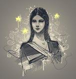 Retrato modelo do encanto ilustração royalty free