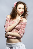 Retrato modelo pelirrojo hermoso del estudio Foto de archivo