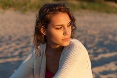 Retrato modelo sensual Foto de Stock Royalty Free