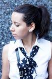 Retrato moderno de la muchacha de universidad Foto de archivo