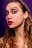 Retrato molhado da beleza da mulher fotografia de stock royalty free