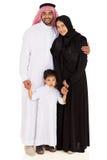 Retrato muçulmano da família imagens de stock
