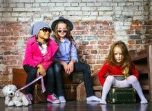 retrato Multi-étnico del grupo de los niños Foto de archivo